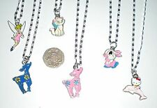 GIRL'S/YOUNG LADIES DISNEY CHARACTER ENAMEL PENDANT 925 STERLING SILVER NECKLACE