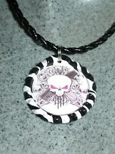 New Braided Leather Necklace with Hair Stylist Themed Bottlecap (No Charm)
