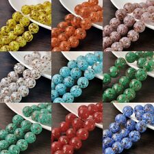 Lot Bulk 5pcs 16mm Round Lampwork Glass Loose Spacer Beads Charms Jewelry Making