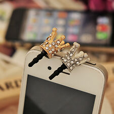 3.5mm Crown Anti Dust Earphone Plug Cover Stopper Cap For Smart Phone Cell C