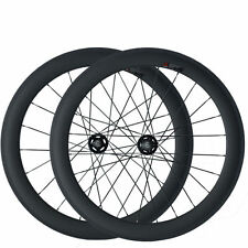 60mm Clincher Carbon Wheels Road Bicycle Road Bike Track Fixed Gear Wheelset