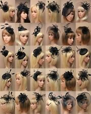 BLACK FASCINATOR, WEDDING, PROM, RACES, ASCOT, OCCASION - CHOOSE DESIGN - LOT