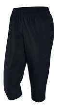 New Womens Nike Flex Woven Training Performance Loose Fit Capris Black MSRP $60
