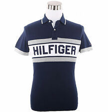 Tommy Hilfiger Mens Logo Short Sleeve Custom Fit Pique Polo Shirt - $0 Free Ship