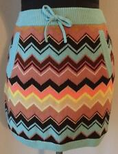 Missoni Target Cotton Rayon Multi-Color Zig-Zag Stripe Knit Sweater Skirt XL XS