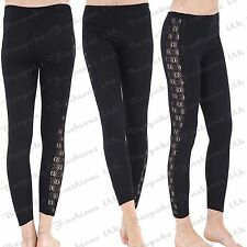 Ladies New Crocheted Lace Side Panel Legging Sizes 8 - 20