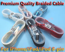 Braided USB Lightning Data Sync Power Charge Cable For iPhone iPad iPod 1.4M AU