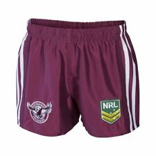 Manly Warringah Sea Eagles 2017 NRL Kids Supporter Shorts BNWT Rugby League