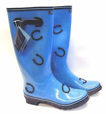 1 Pair Shires Equestrian Wellington Riding Boots 100% Waterproof Knee High Shoes