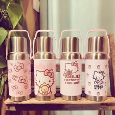Hello Kitty Stainless Steel Thermos Vacuum Flasks Kid's Cartoon Water Bottle Cup