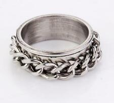 punk men's jewelry design 316l stainless steel link motor ring size11