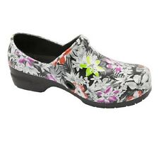 Anywear SRANGEL Women's Closed Back Plastic Clog Shoe in Spec-tropical