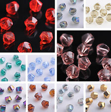 New 10mm Twist Helix Faceted Crystal Glass Loose Spacer Beads Lot Jewelry Making