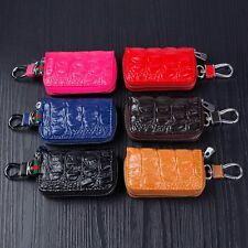 Fashion Unisex Genuine Leather Zipper Car Key Case  Key Bag Wallet