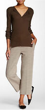 NWT $415 HELMUT LANG CROPPED WOOL PIQUE KNIT PANTS