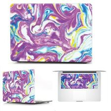 """Purple Marble Hard Rubberized Case + Keyboard Cover for MacBook Air Pro 11""""13"""""""