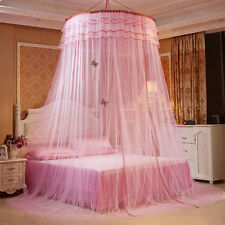 Round Mosquito Net Luxury Princess Pastoral Lace Curtain Dome Bed Canopy Netting