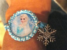 New FROZEN Themed Bottlecap Bracelets with Snowflake-Elsa, Anna, Olaf & 3 Quotes