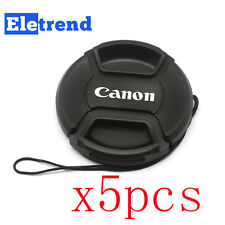 5PCS 58mm Snap-on Lens Front Cap for Canon Camera T5i 700D