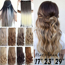 """1 PC 17""""-30"""" Long Thick Clip In Hair Extensions HairPiece Synthetic Remy TU32"""