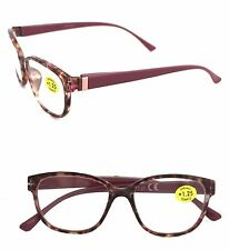WOMEN'S VARIETY TORTOISE SHELL READING GLASSES - BLACK/BROWN-MAUVE-NAVY OR TEAL