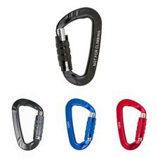 12KN Aluminum Alloy Screw Locking D Carabiner Clip Hook Keychain Camping Outdoor