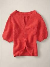 NWT STELLA MCCARTNEY GAP GIRLS CHUNKY CARDIGAN SWEATER CORAL L 10 $78.00