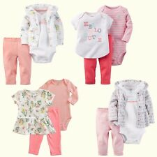 NWT Carter's Baby Girls 3pc Set Outfit Bodysuit T-Shirt Hoodie Pants Playwear