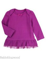 NEW Gymboree Purrfectly Fabulous Girls 18mo 24 mo Purple Tunic Tulle Top