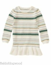 NWT Gymboree All Spruced up  Striped Sweater Dress SZ 5 Girls