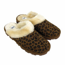 JYOTI Ladies Dark Leopard Print Soft Lined Mule Slippers. Perfect for CHRISTMAS