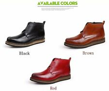 Genuine Leather Mens Ankle Boots Spring Casual Mens Fashion Shoes Comfort Boots