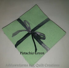 Solid Pistachio Green Flannel Rag Quilting, Squares, BTY, BTHY, or Pre-Fringed