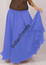 Steal Blue - 2 Layer Reversible Skirts Belly Dance Gypsy 9 Yd Fulll Circle Jupe