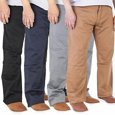 Mens BIG WAIST 42 44 46 48 Aztec Jeans Stretch Twill Chinos Trousers Classic Fit