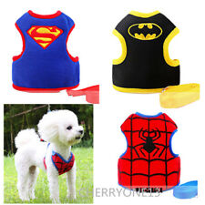 Dog Harness Soft Mesh Adjustable Cat Vest with Leash Clip Cartoon Puppy XS S M