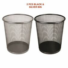 METAL MESH WASTE PAPER BIN WASTE BASKET FOR OFFICE HOME USE BEDROOM RUBBISH