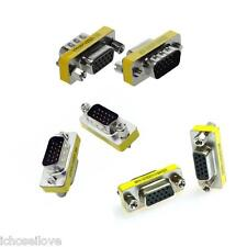 DB15 Female / Male Adapter Mini Gender Changer VGA 15-Pin 3-Row Serial Connector