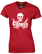 THE GOONIES LADIES T SHIRT MOVIE CHUNK MOUTH SLOTH FRATELLIS PIRATE CLASSIC CULT