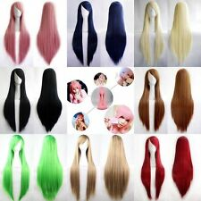 """New Fashion Womens Wig Long Straight Anime Cosplay Party Wig 80cm/32"""" Multicolor"""