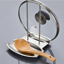 Kitchen Portable Stainless Steel Pan Pot Rack Cover Lid Rack Stand Spoon Holder