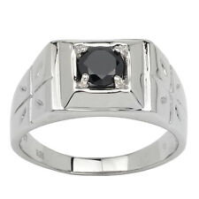 Solid 925 Sterling Silver Men Ring 6mm CZ Cross Carve Jewelry Size 6 to 13