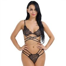 Women Sexy Lace Lingerie Sleepwear Babydoll Underwear G-string Nightwear Dress!