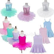 Girls-Gymnastics-Leotard-Dress-Ballet-Leotard-Dance-Tutu-Skirt-Dancewear-Costume