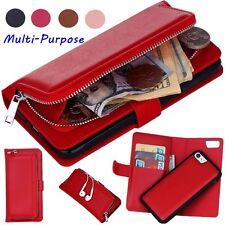 iPhone 6 7 Plus Case for Apple Leather Magnetic Removable Cash Wallet Flip Cover