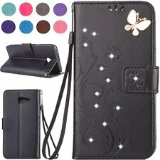 HOT 9 Colors Diamond Flip Leather Wallet Magnetic Case Cover For Samsung Galaxy