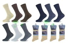 12 Pairs 100% Cotton Ribb Mens Socks UK 6-11 Size Every Day Socks