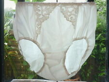 Vintage Nylon Lingerie Granny Bloomers Panties Sheer Lace Full Briefs Size L XL