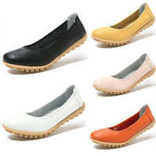 Women Classics Tom Loafers PU Leather Slip-On Flats Round Toe Shoes Size 5-7.5