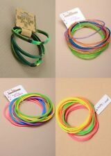PACK OF 12 CARDS OF GUMMY BRACELETS; GIRLS; LADIES; FASHION JEWELLERY; GIFT;